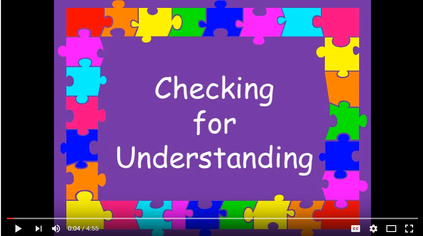 CheckingforUnderstanding