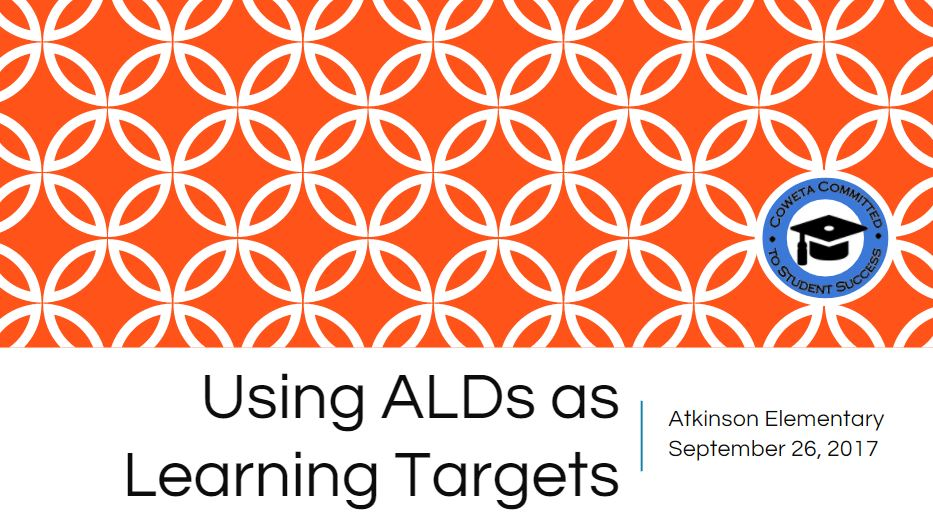 PL K 5 2017 09 26 Using ALDs as Learning Targets